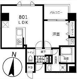 東京メトロ半蔵門線 錦糸町駅 徒歩9分の賃貸マンション 8階1LDKの間取り