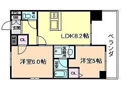 エステムプラザ梅田・中崎町IIIツインマークスNR[10階]の間取り