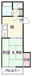 東京都東村山市野口町4の賃貸アパートの間取り