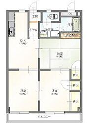 埼玉新都市交通 鉄道博物館(大成)駅 徒歩2分の賃貸マンション 2階3DKの間取り