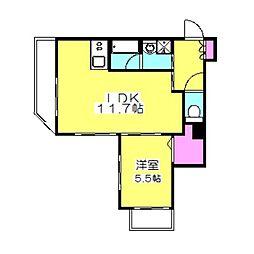 神奈川県横浜市港北区日吉本町3丁目の賃貸マンションの間取り