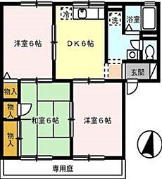 サンコーポ石井 B[1階]の間取り