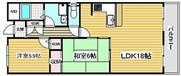 リトープス16階Fの間取り画像