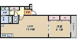 フジパレス堺大浜6番館[3階]の間取り