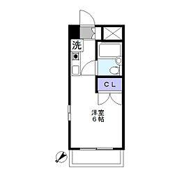 クレール鷺沼[305号室]の間取り