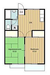 神奈川県横浜市瀬谷区相沢3丁目の賃貸アパートの間取り