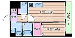 JR東海道・山陽本線 吹田駅 徒歩5分の賃貸マンション 1階1DKの間取り