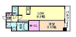 エールリベルテ大阪WEST[10階]の間取り