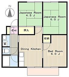 神奈川県綾瀬市小園南2丁目の賃貸アパートの間取り