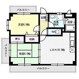 コスモス95[2階]の間取り
