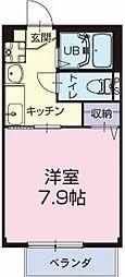 愛知県岩倉市八剱町寺山の賃貸アパートの間取り