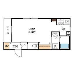 仮称 宮坂2丁目メゾン 2階1Kの間取り