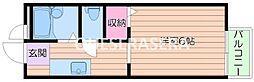 大阪府箕面市小野原東4の賃貸アパートの間取り