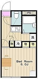 神奈川県海老名市下今泉1丁目の賃貸アパートの間取り
