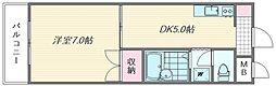 アメニティ浜松[305号室]の間取り