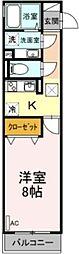 (仮称)D-room太子堂 1階1Kの間取り
