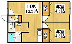 ジェラン小樽2nd[1階]の間取り