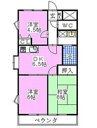 さつきマンション[205号室]の間取り