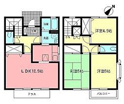 [テラスハウス] 神奈川県横浜市都筑区北山田3丁目 の賃貸【/】の間取り