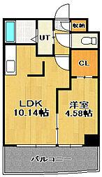AMS KAIHOUROU(AMS海宝楼)[6階]の間取り