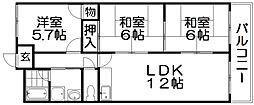 東華マンション[4階]の間取り