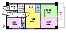 カメリヤマンション[3階]の間取り