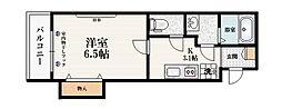 東武東上線 中板橋駅 徒歩10分の賃貸マンション 3階1Kの間取り