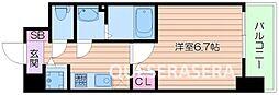 Osaka Metro谷町線 阿倍野駅 徒歩9分の賃貸マンション 5階1Kの間取り