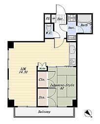 ライオンズマンション大森第8[3階]の間取り