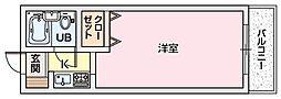エムケイ3枚方公園[2階]の間取り