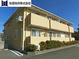 愛知県豊橋市大山町字西大山の賃貸アパートの外観