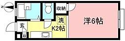 レジデンス紺碧[202号室]の間取り
