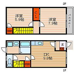 [テラスハウス] 滋賀県彦根市野田山町 の賃貸【/】の間取り