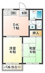 ファミール井川[1階]の間取り