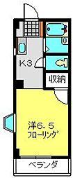 神奈川県横浜市磯子区森3丁目の賃貸アパートの間取り