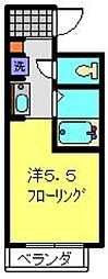 YOKOHAMA BAY HILLS[204号室]の間取り