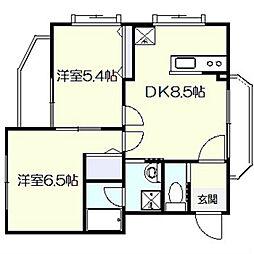 メゾン・ド・クラ[1階]の間取り