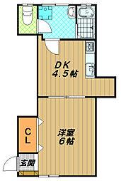坂本ビラ[2階]の間取り