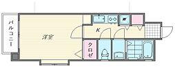 ロイヤルコンフォート箱崎[301号室]の間取り