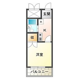 愛知県豊橋市前田中町の賃貸マンションの間取り