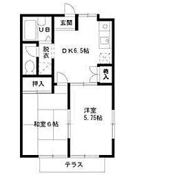 東京都練馬区三原台1丁目の賃貸アパートの間取り