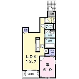 JR総武線 稲毛駅 バス10分 熊野神社下車 徒歩3分の賃貸アパート 1階1LDKの間取り