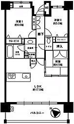 ユードリーム吉塚 4階3LDKの間取り