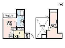 Osaka Metro千日前線 小路駅 徒歩4分の賃貸アパート 1階1Kの間取り