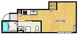 バローニB棟[1階]の間取り