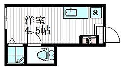 サークルハウス東長崎 1階ワンルームの間取り