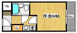 フローララポルテ 仲介手数料10800円 専用消毒も不要[2階]の間取り