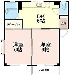 ラフォーレ稲城[1階]の間取り