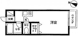 ライフピア和田[104号室]の間取り