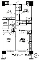 シティライフ箱崎6[305号室]の間取り